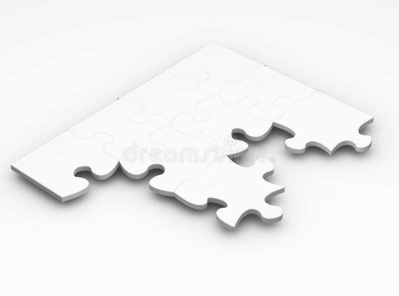 Unfinished puzzle royalty free stock image