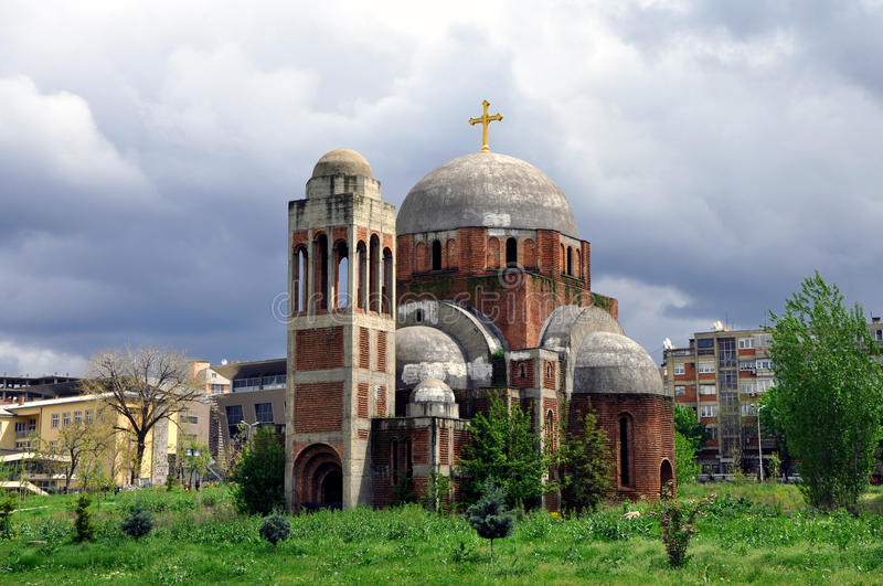 Unfinished Serbian Orthodox Temple of Saint Saviour stock photography