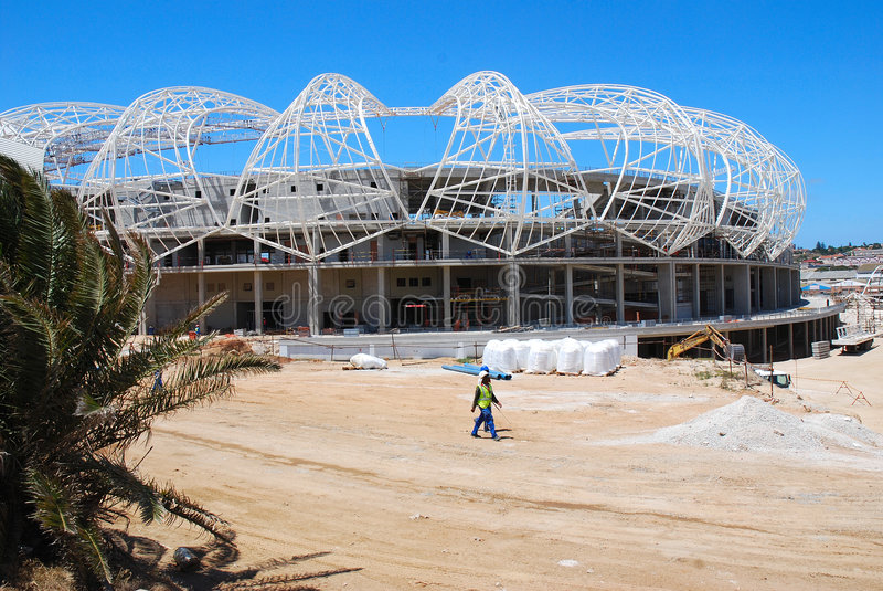 Download Unfinished soccer stadium editorial stock image. Image of bare - 7817574