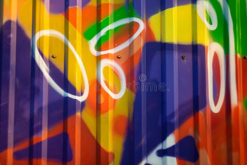 Unfocused abstrakta wz?r na ?elaznym ogrodzeniu obraz stock