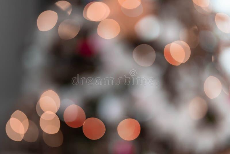 Unfocused Pomarańczowi światła Abstrakcjonistyczni fotografia royalty free