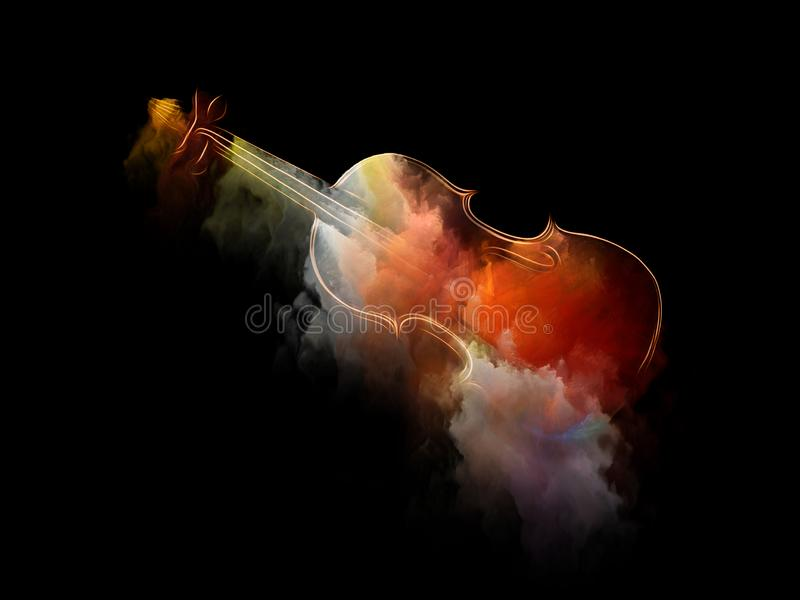 Unfolding нот иллюстрация штока