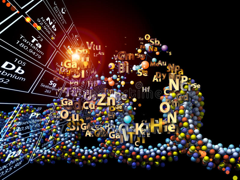 Download Unfolding Of Chemical Elements Stock Illustration - Image: 28407889