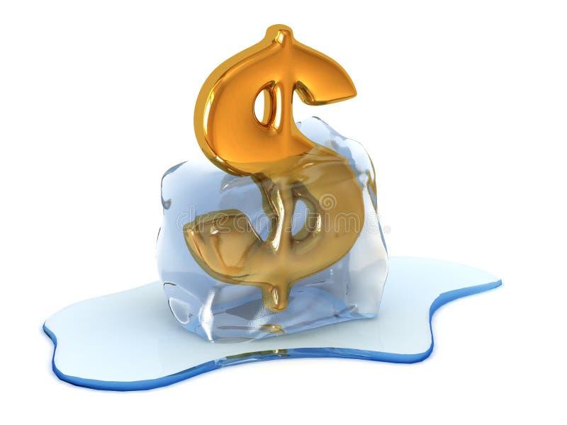 Download Unfreezing dollar sign stock illustration. Illustration of economic - 7883701