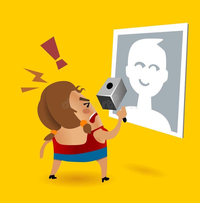 Unfriend su facebook illustrazione di stock