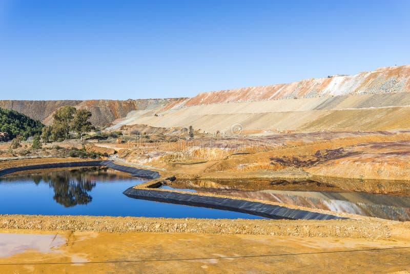 Unfruchtbar, Industrielandschaft in Minas de Riotinto, Spanien stockfotos
