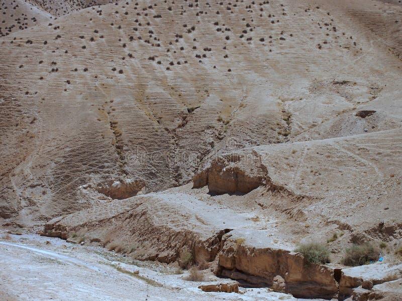 Unfruchtbare Judaean-Wüste, Israel, Heilige Länder stockbilder