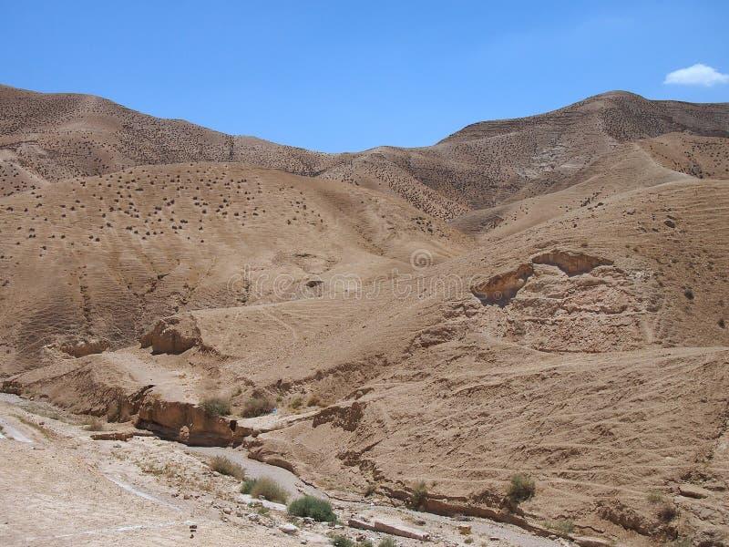 Unfruchtbare Judaean-Wüste, Israel, Heilige Länder lizenzfreie stockbilder