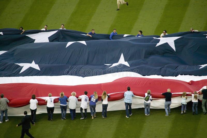 Download Unfurling Of Gigantic American Flag Editorial Image - Image: 27069390