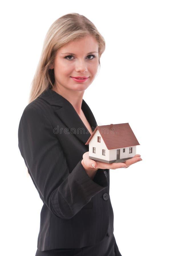 Ung affärskvinna arkivbild