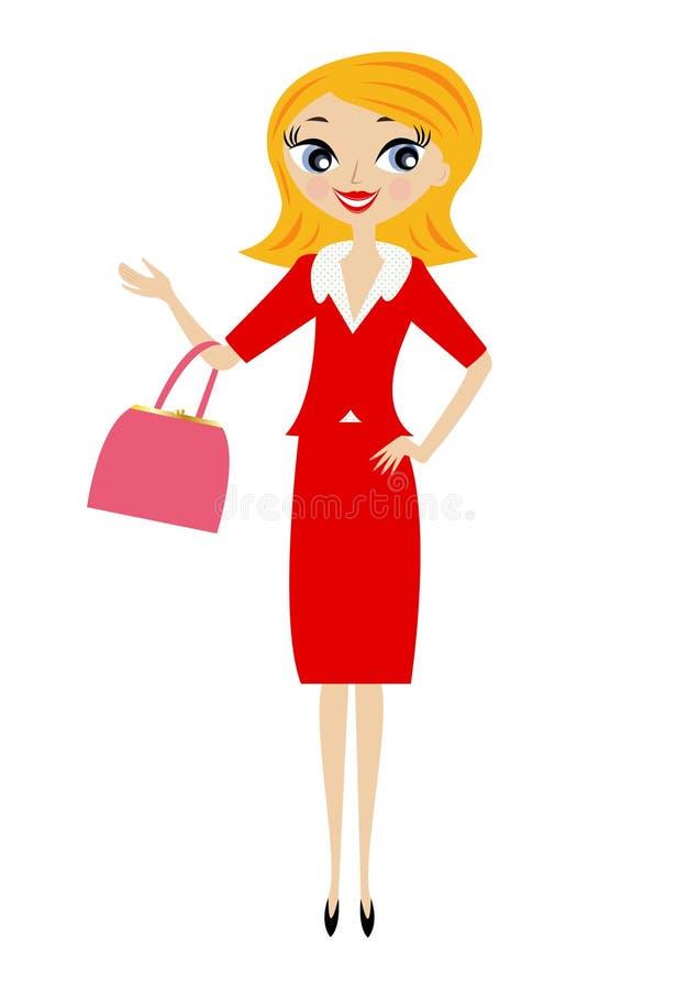 Download Ung affärskvinna vektor illustrationer. Illustration av samtida - 37349973