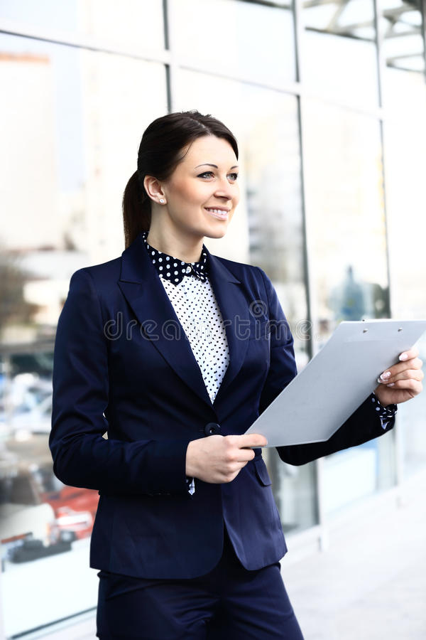 Ung affärskvinna arkivfoton