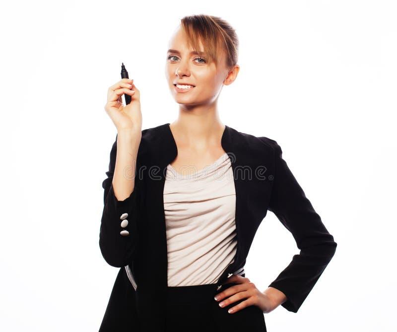 Ung affärskvinna royaltyfri bild
