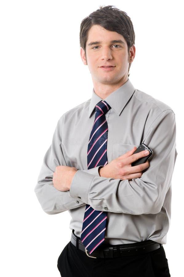 Ung affärsman arkivfoto