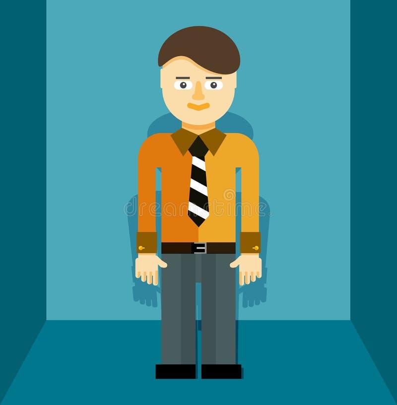 Ung affärsmansymbol stock illustrationer