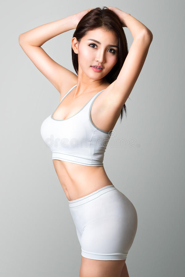 Ung asiatisk kvinnlig tonåring arkivfoton