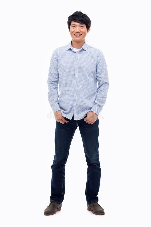 Ung asiatisk man royaltyfri foto
