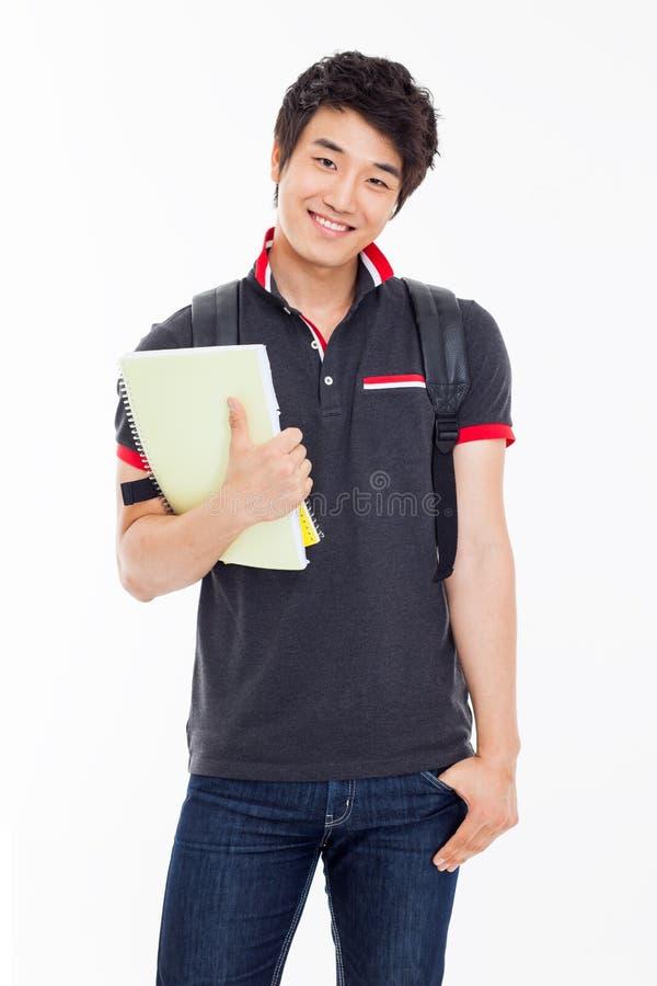 Ung asiatisk student arkivfoto