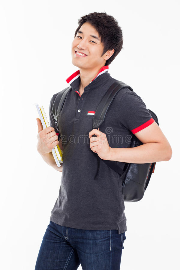 Ung asiatisk student royaltyfri bild
