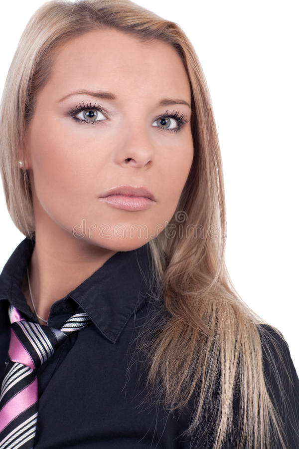 Ung blond kvinna royaltyfri bild