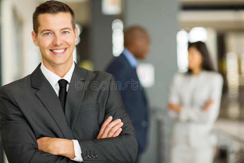 Ung caucasian affärsman royaltyfri foto