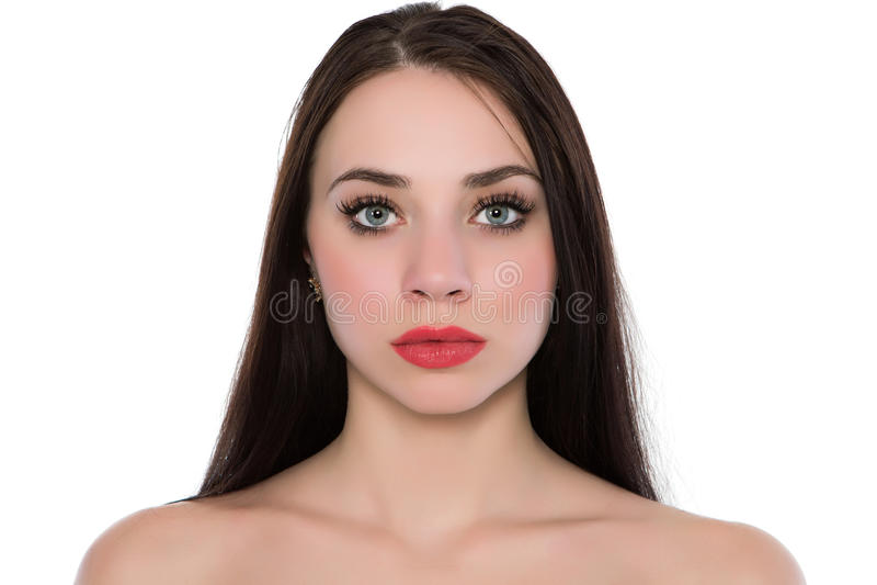 Ung caucasian kvinna arkivfoto
