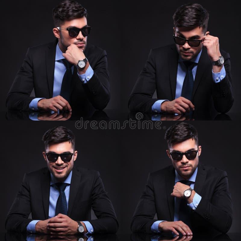 Ung collage för affärsman royaltyfri fotografi