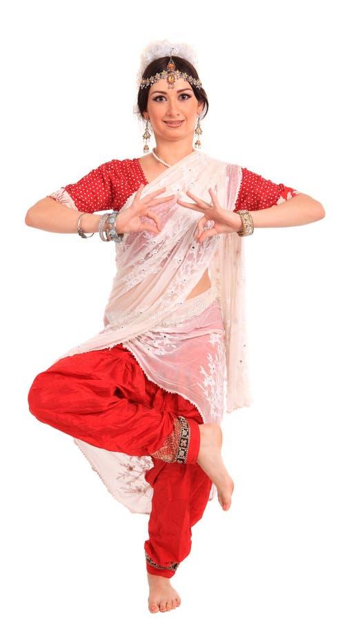 Download Ung Flicka I Den Indiska Nationella Dräkten Fotografering för Bildbyråer - Bild av lyckligt, flicka: 27282375