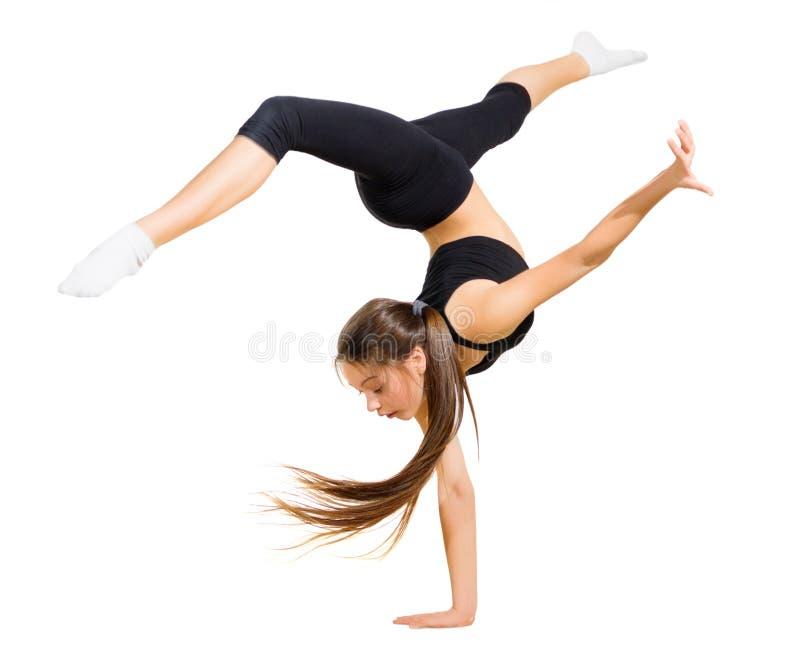 Ung flicka som dansar modern dans royaltyfri fotografi