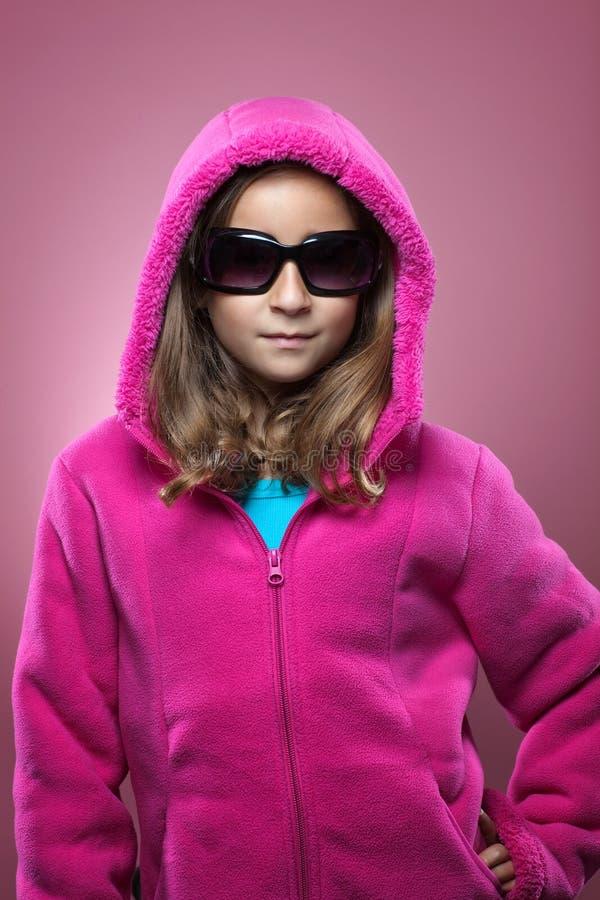 Ung flickamodestående royaltyfri fotografi