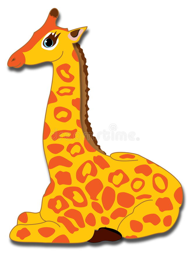 Ung giraff royaltyfri foto