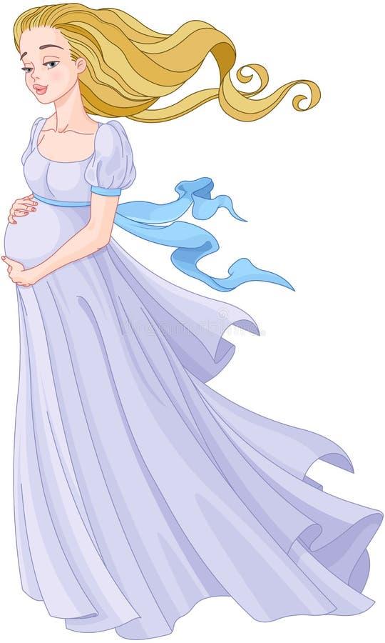 Ung gravid kvinna vektor illustrationer