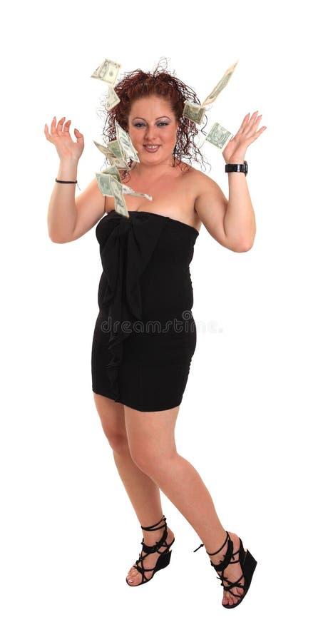 Download Ung Härlig Flicka Med Dollar Arkivfoto - Bild av shopping, glädje: 27282364