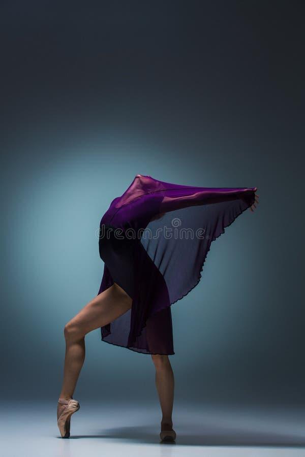 Ung härlig modern stildansare som poserar på en studiobakgrund arkivbilder