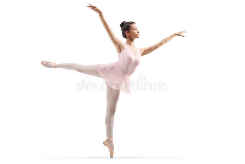 Ung h?rlig ballerinadans royaltyfria foton