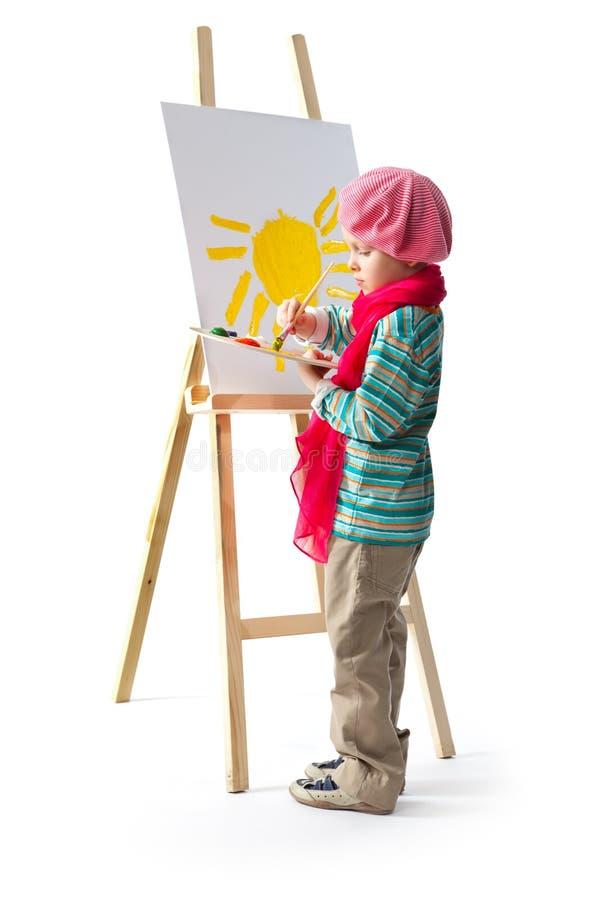 Ung konstnär royaltyfria bilder