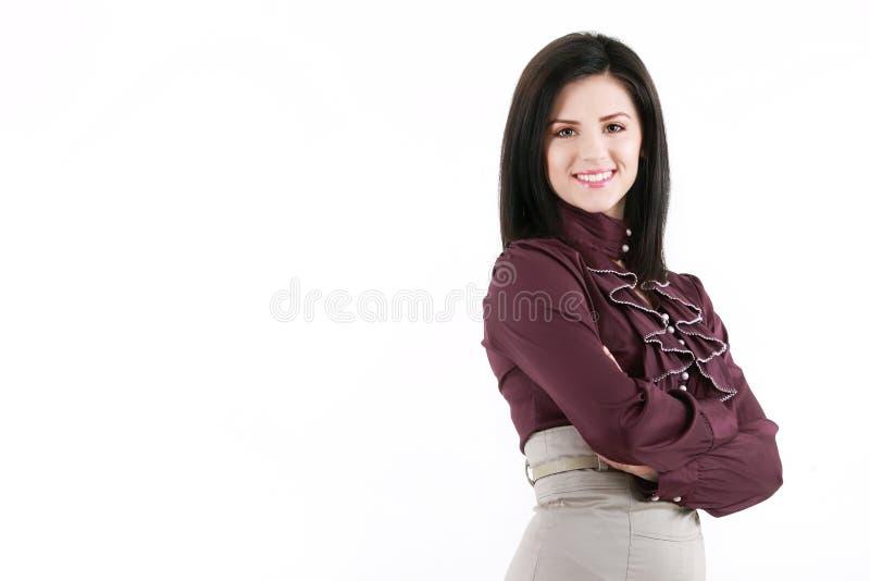 Ung kvinna för nätt brunett royaltyfri foto