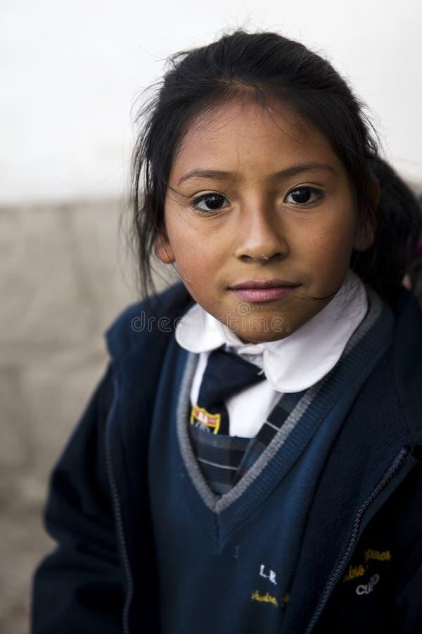 Ung kvinna från Cusco fotografering för bildbyråer