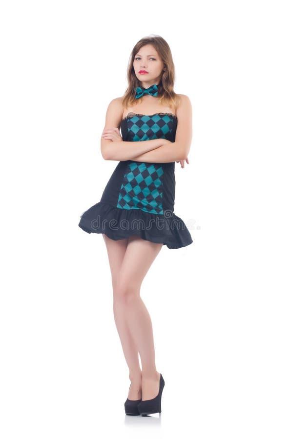 Ung kvinna i mode arkivfoton