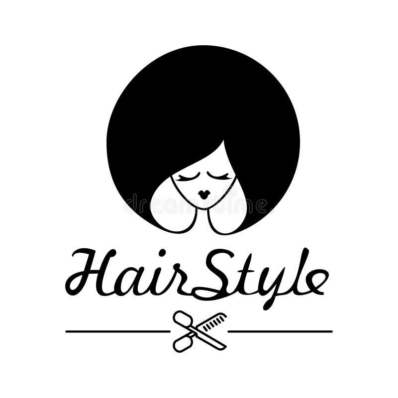Ung kvinna med en h?rlig frisyr vektor illustrationer