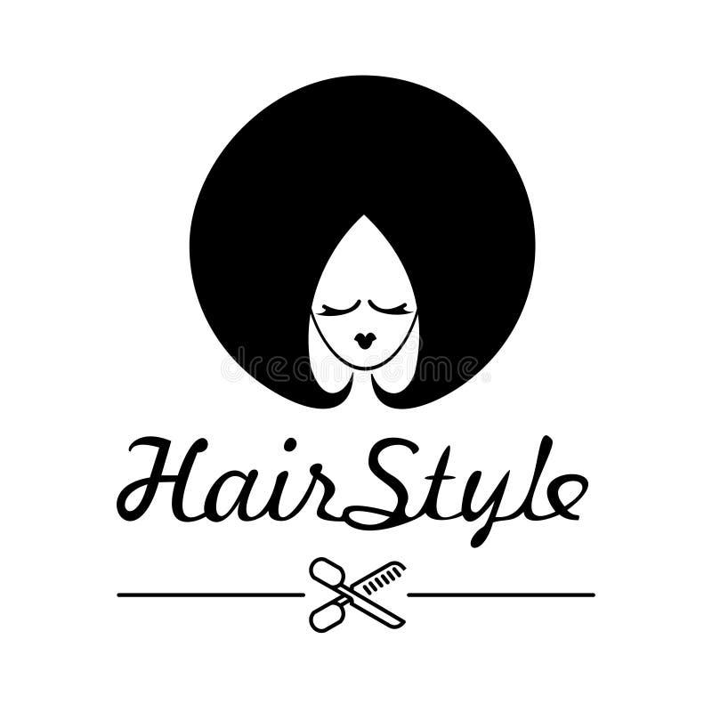 Ung kvinna med en h?rlig frisyr royaltyfri illustrationer