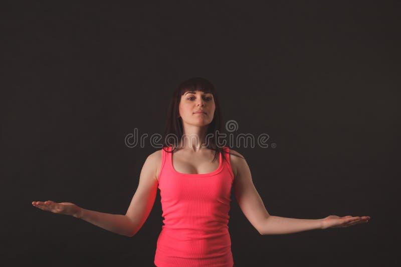 Ung kvinnlig dansjazz arkivbild