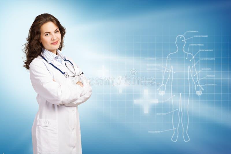Ung kvinnlig doktor arkivfoton