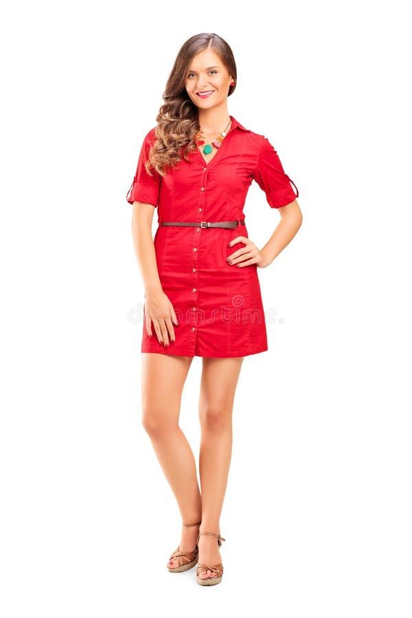 Ung kvinnlig modemodell arkivfoto