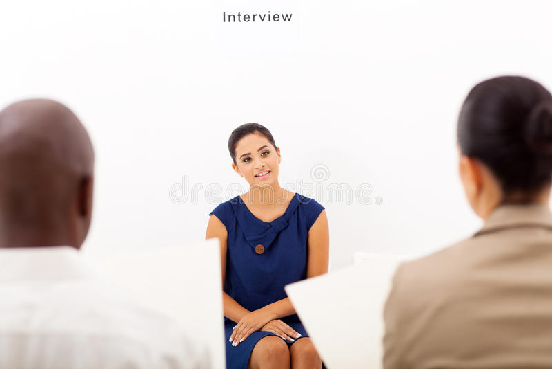 Jobbintervju royaltyfria bilder