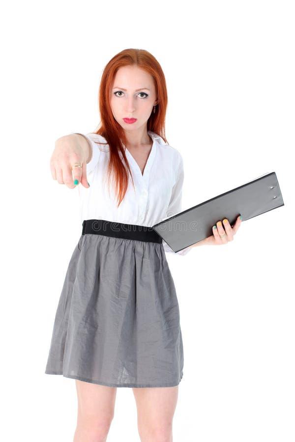 Ung lärare eller affärskvinna arkivfoto
