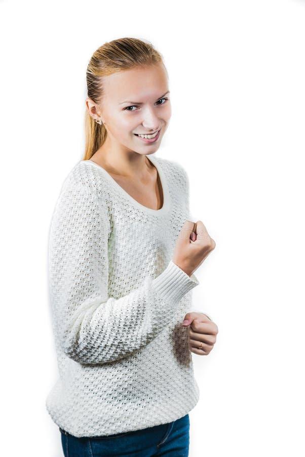 Ung lycklig flicka royaltyfri fotografi