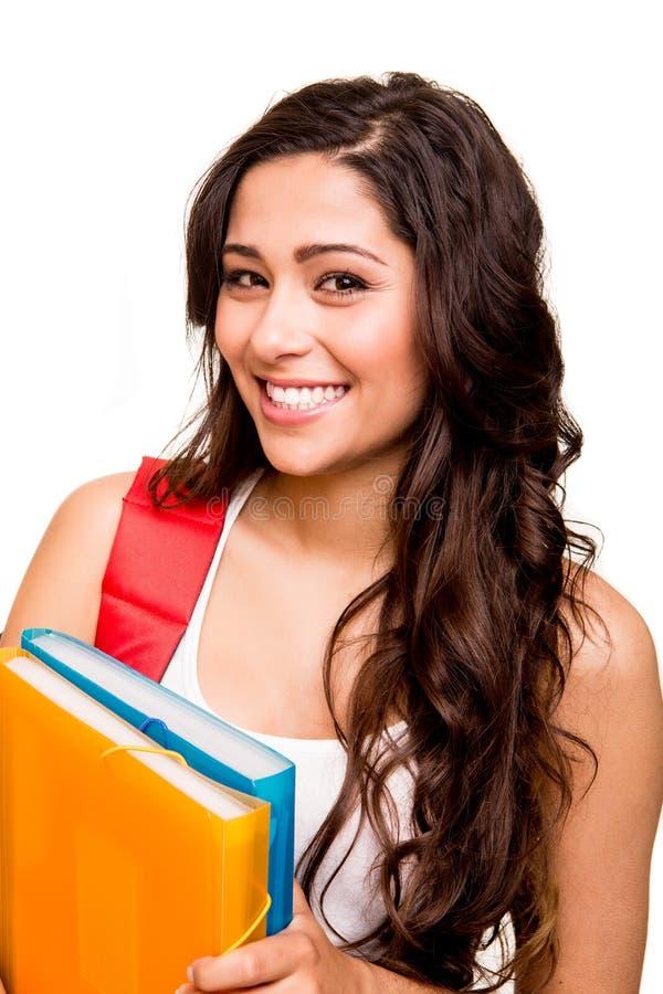 Ung lycklig student arkivfoto