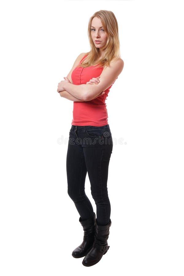 Ung mager kvinna royaltyfri foto