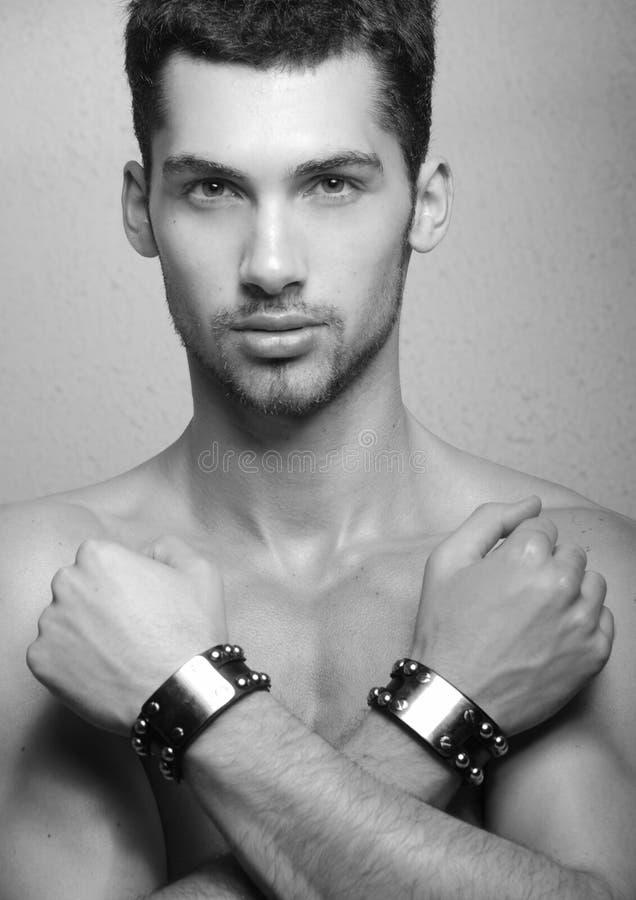 Ung male modell royaltyfri bild